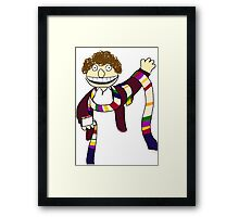 Fourth Doctor Muppet Style Framed Print