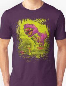 Bloody Extinction of Purple T Rex Dinosaur Unisex T-Shirt