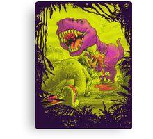Bloody Extinction of Purple T Rex Dinosaur Canvas Print