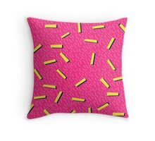 Retro 80's club leggings Throw Pillow