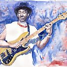 Jazz Guitarist Marcus Miller Blue by Yuriy Shevchuk