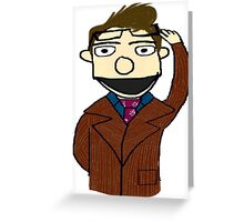 Tenth Doctor Muppet Style Greeting Card