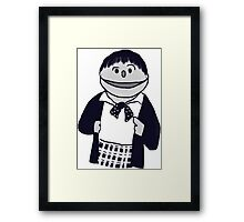 Second Doctor Muppet Style Framed Print