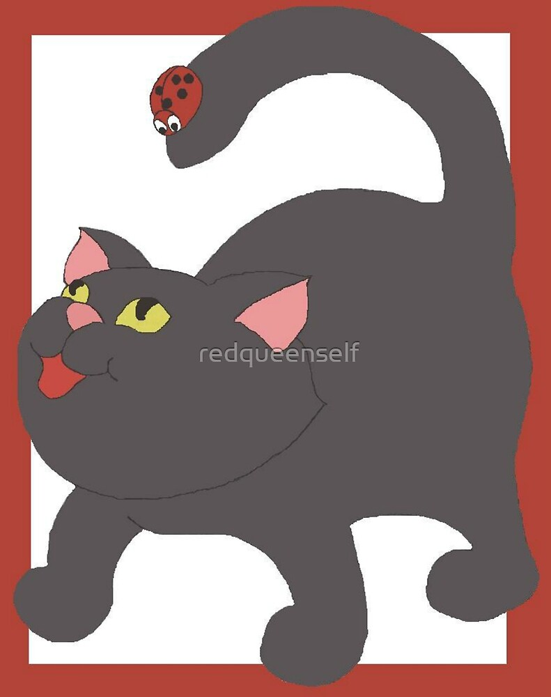Cat and Ladybug by redqueenself