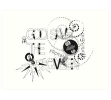 God Save The QVeen - Vivienne Icons  Art Print