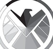 S.H.I.E.L.D Monochrome by tahliarosemarie