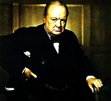 Winston Churchill, Prime Minister of UK, 1941  by Adam Asar