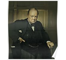 Winston Churchill, Prime Minister of UK, 1941  Poster
