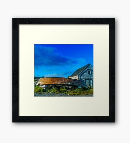 Behind the Fishing Shed Framed Print