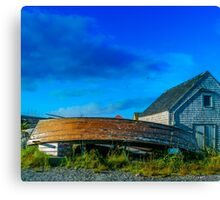 Behind the Fishing Shed Canvas Print
