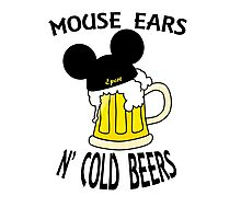 Mouse Ears N' Cold Beers Photographic Print