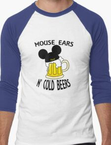 Mouse Ears N' Cold Beers Men's Baseball ¾ T-Shirt