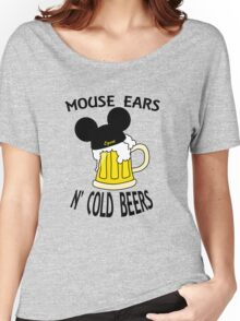 Mouse Ears N' Cold Beers Women's Relaxed Fit T-Shirt