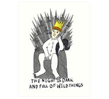 A Game Of Wild Things Art Print