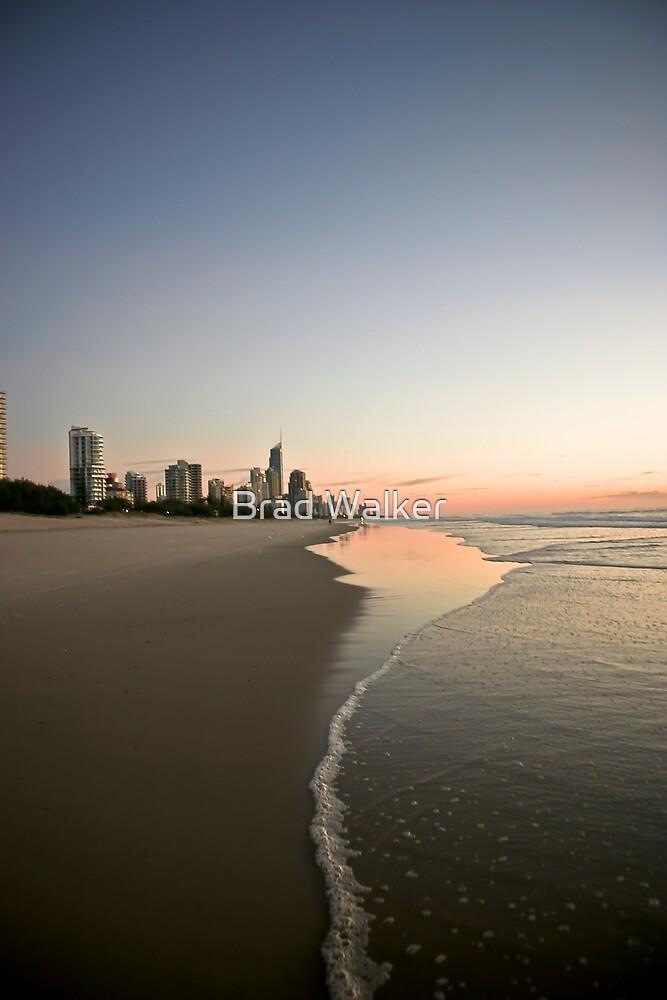 Sunrise Looking Towards Surfers Paradise by Brad Walker