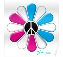 Peace Power Flower Poster