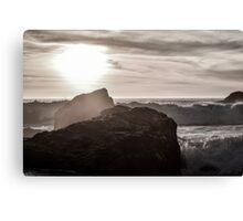 Monochrome Sunset Canvas Print