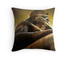 as light dawns on Ramesses II Throw Pillow