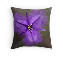 "Common Fringe Lily ""Thysanotus tuberosus""  Throw Pillow"