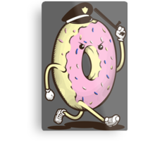 Donut Run From The Law Metal Print