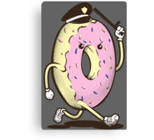 Donut Run From The Law Canvas Print