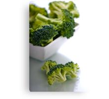 A Taste of Broccoli. Canvas Print