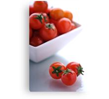 A Taste of Tomato. Canvas Print