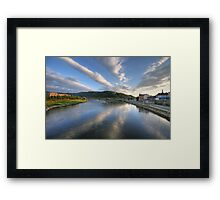 the elbe valley Framed Print
