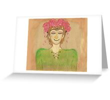 Flower crown hiccup Greeting Card