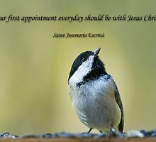 Our first appointment everyday should be with Jesus Christ by Bonnie T.  Barry