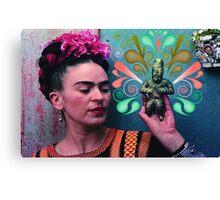 Frida Swirls Canvas Print