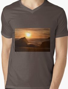 Golden Sand Mens V-Neck T-Shirt