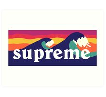 Supreme Waves Art Print