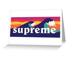 Supreme Waves Greeting Card