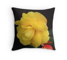 Pure Yellow Throw Pillow