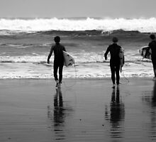 Strandhill Surfers by GregBPhotos