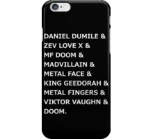MF DOOM &... iPhone Case/Skin
