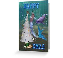 Mermaid Christmas Greeting Card