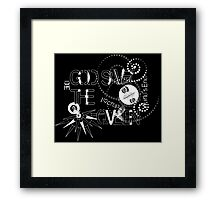 God Save The QVeen - Vivienne Icons (black version) Framed Print