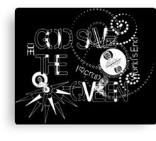 God Save The QVeen - Vivienne Icons (black version) Canvas Print