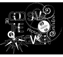 God Save The QVeen - Vivienne Icons (black version) Photographic Print
