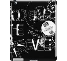 God Save The QVeen - Vivienne Icons (black version) iPad Case/Skin