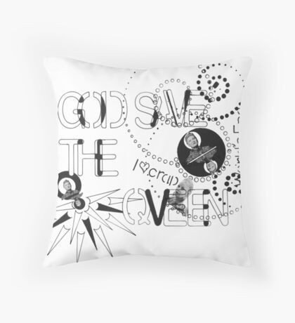 God Save The QVeen - Vivienne Icons  Throw Pillow