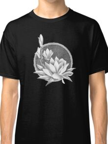 Japanese Style Magnolia Blossoms - Monochrome Classic T-Shirt