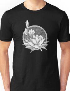 Japanese Style Magnolia Blossoms - Monochrome Unisex T-Shirt