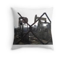 Grasshoppers at Work Throw Pillow