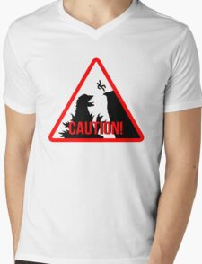 Caution - Monster! Mens V-Neck T-Shirt