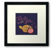 Cats Love Ham Framed Print