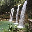 Blue lagoon waterfalls, Dominican Rep by chord0
