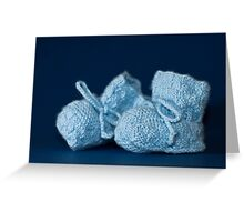 blue baby shoes Greeting Card